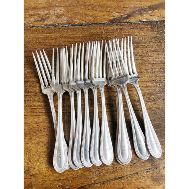 Antique Silver Plated Tiffany & Co Forks - Set of 11 For Sale In New York - Image 6 of 6