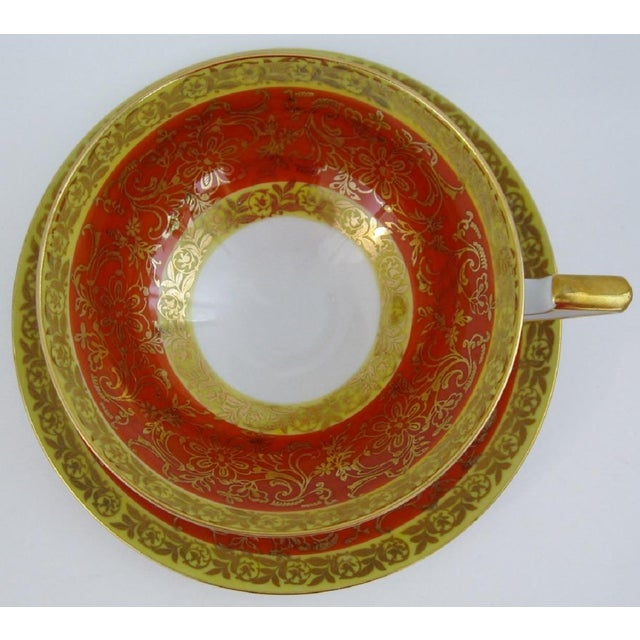 Vintage Bavarian Tea Cup & Saucer For Sale - Image 4 of 6