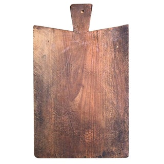 Early 20th Century French Wood Cutting Board For Sale
