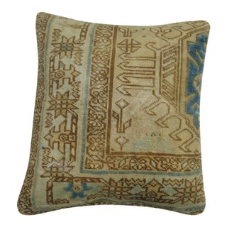 Vintage Persian Heriz Rug Pillow