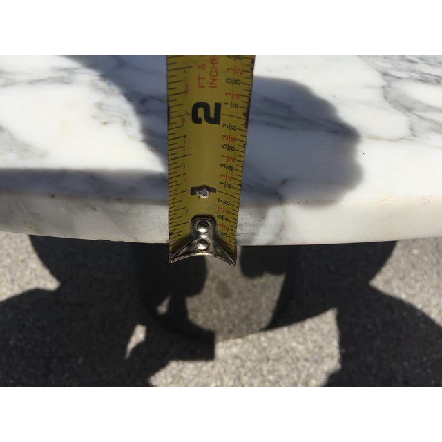 1960s Mid-Century Modern Marble and Chrome Dining Table For Sale In Miami - Image 6 of 11