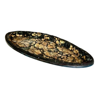 Marsha Rafter Organic Modern Mosaic Oval Platter, Signed For Sale