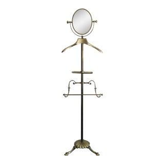Mastercraft Brass Gentlemen's Valet with Swivel Mirror For Sale