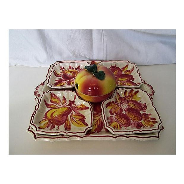 Italian Pottery Serving Set - 6 Pieces - Image 2 of 8