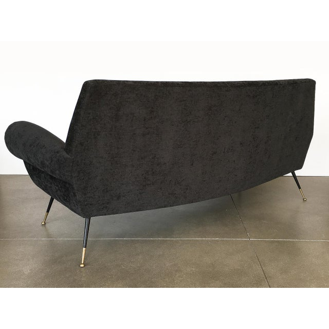 Gold Italian Midcentury Sofa by Gigi Radice for Minotti For Sale - Image 8 of 13