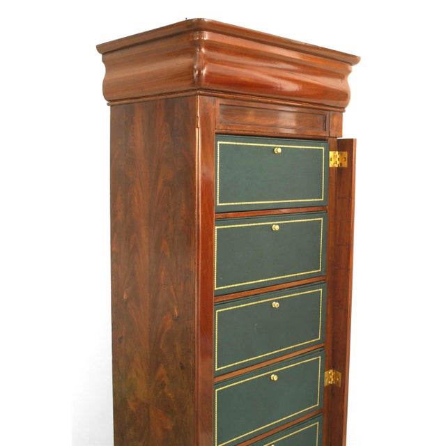 Arts & Crafts Late 19th Century Continental Semainier Chest of Drawers For Sale - Image 3 of 6