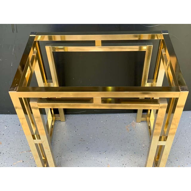 Milo Baughman style brass table base, ready for the glass top of your choice.