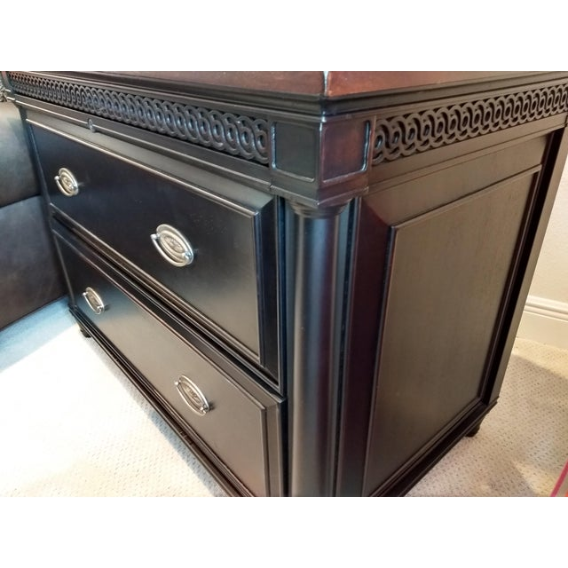 Brown Elegant Two-Drawer Lateral File Cabinet Credenza - (Aspenhome: Young Classics Office Collection) For Sale - Image 8 of 13