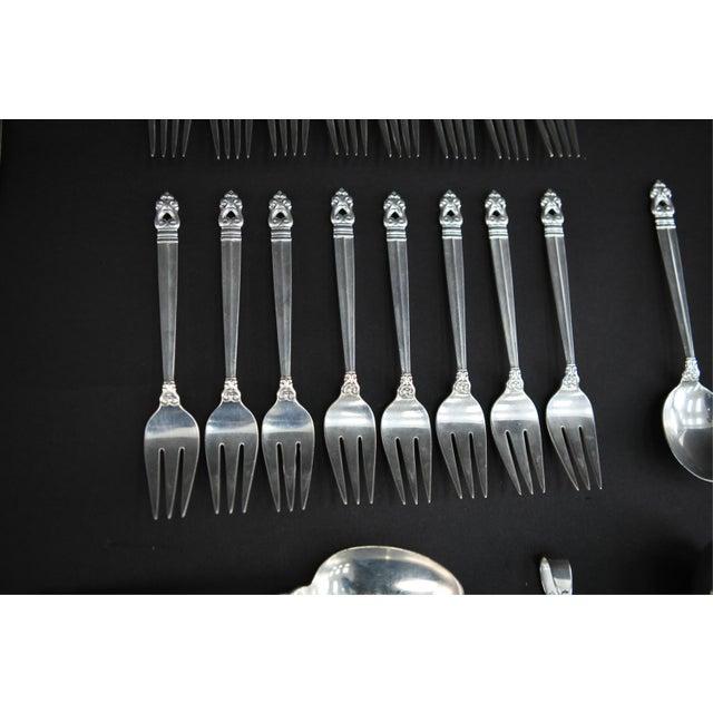 International Silver International Silver Royal Danish Sterling Silver Flatware - 60 Piece Set For Sale - Image 4 of 10