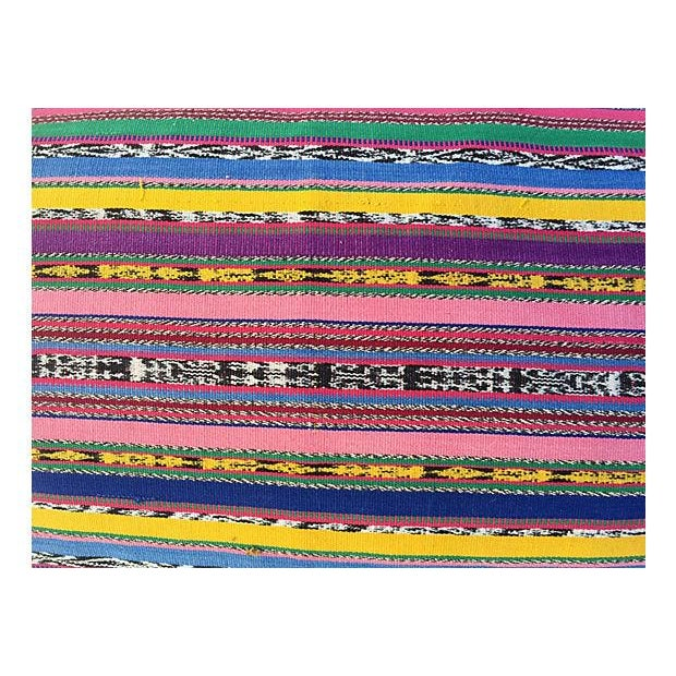 Contemporary Guatamalin Ikat Colorful Pillow For Sale - Image 3 of 5
