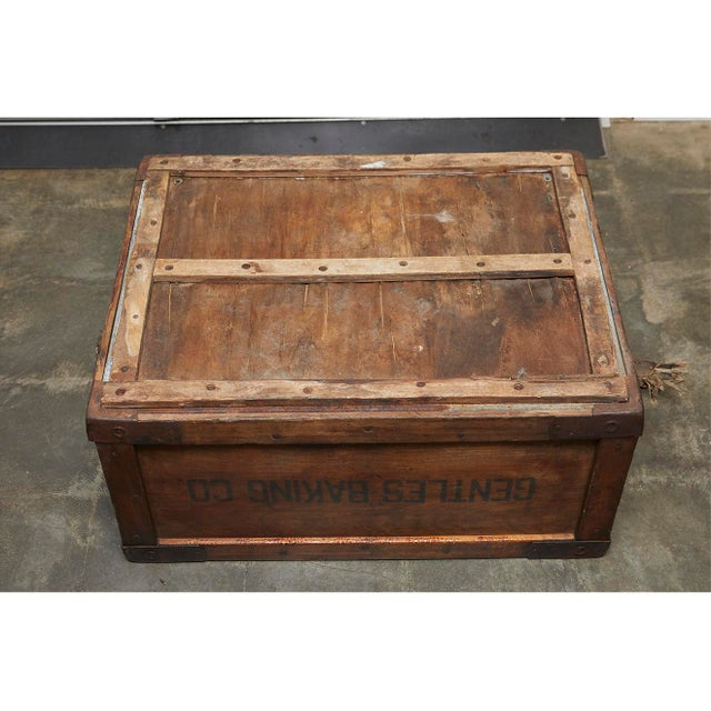 Tan Gentles Baking CO. Wooden Delivery Box For Sale - Image 8 of 8