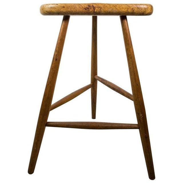 Wood American Studio Bar Stool by Michael Elkan For Sale - Image 7 of 7