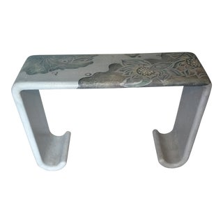 Vintage Hollywood Regency Waterfall Console Table For Sale