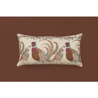 Americana Pheasant and Quail Lumbar Pillow Preview