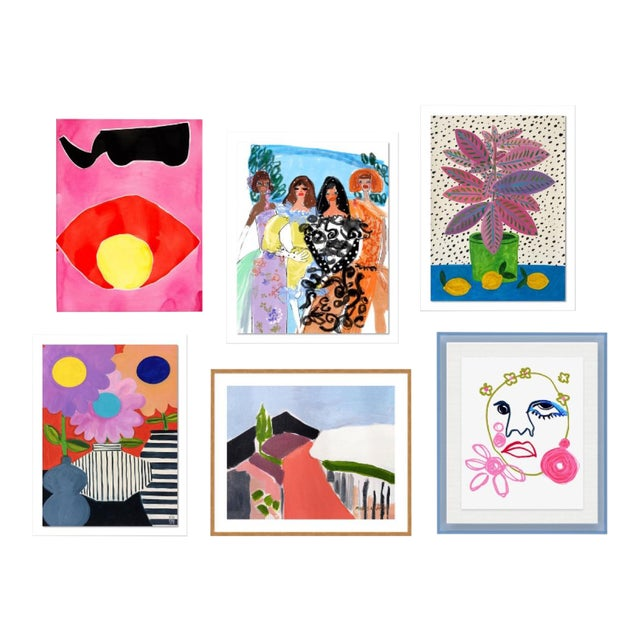 Bleecker Gallery Wall, Set of 6 For Sale