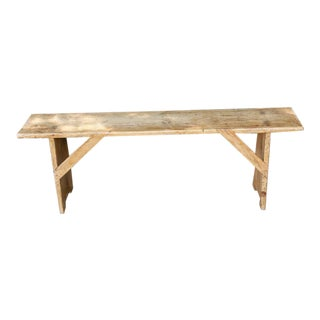 Antique Rustic Wood Bench