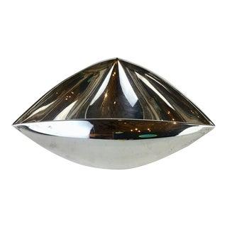 Italian Triangular Pampaloni Silver Plate Bowl For Sale