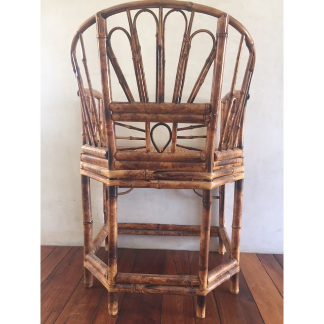 Vintage Bamboo Chinoiserie Accent Chair For Sale - Image 11 of 11