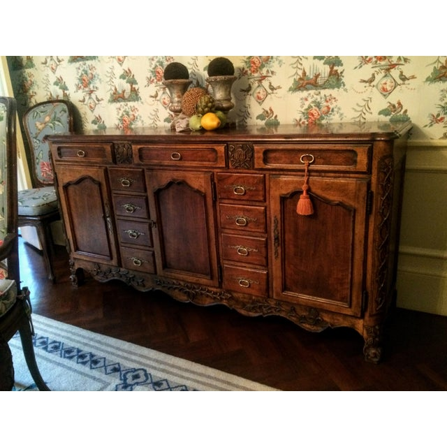 French Provincial Mount Airy Furniture Co. French Provincial Sideboard Buffet For Sale - Image 3 of 11