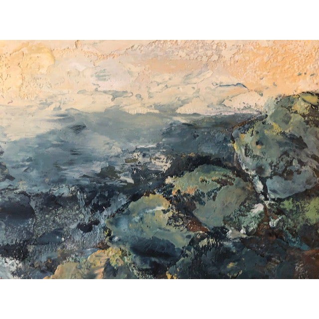 2010s Encaustic Seascape Painting For Sale - Image 5 of 7