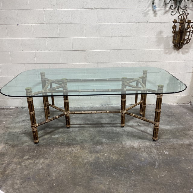 McGuire Bamboo Dining Table For Sale - Image 11 of 11