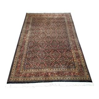 Vintage Handmade Carpet in Allover Pattern- 5′10″ × 9′1″ For Sale