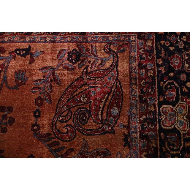19th C. Persian Lavar Kirman Rug - 8′5″ × 11′8″ For Sale - Image 4 of 5