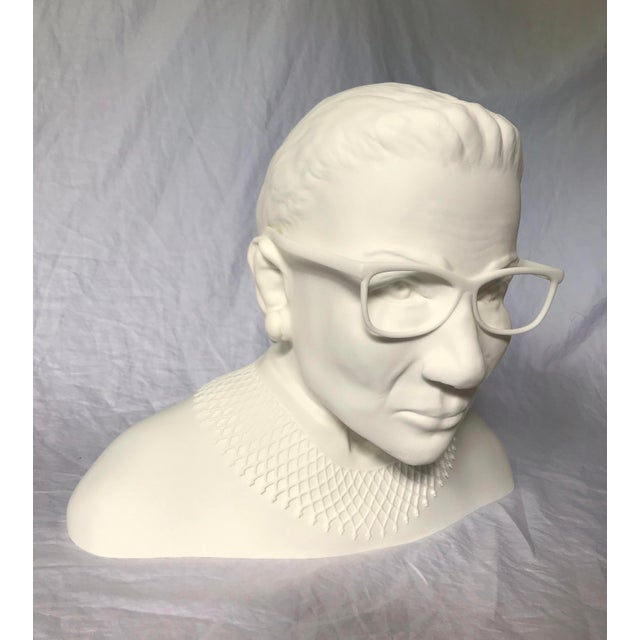 Cream Ruth Bader Ginsberg Bust For Sale - Image 8 of 11