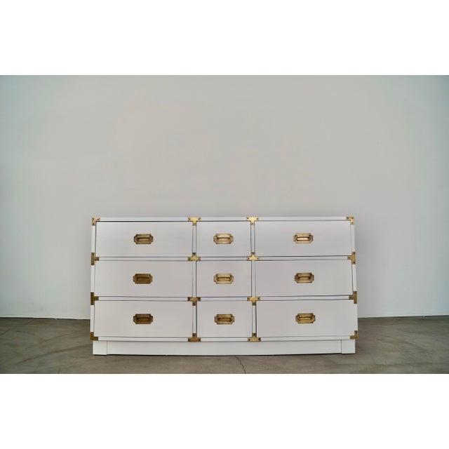 1960s Drexel Campaign Hollywood Regency Dresser For Sale - Image 13 of 13