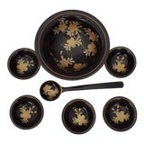 Image of Asian Laquered Condiment Bowls - Set of 7 For Sale
