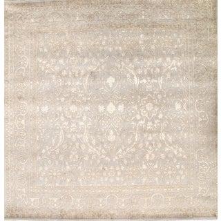 Pasargad Silk & Wool Tabriz Rug - 8' X 8'