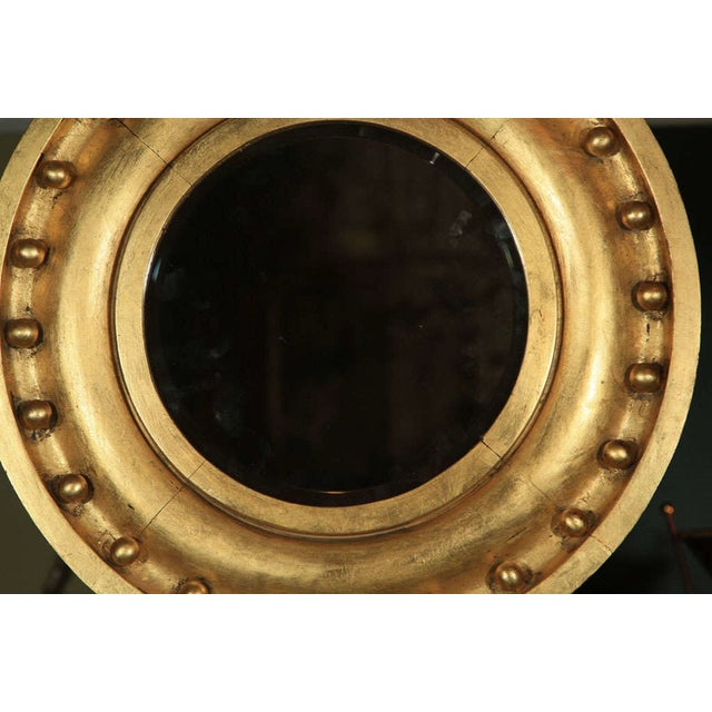 Antique Circular Gilded Mirror For Sale - Image 4 of 4