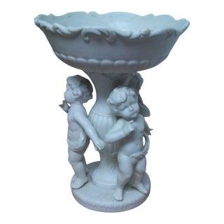 Cherub Ceramic Statue Bowl For Sale
