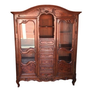 Antique French China Cabinet Display Cabinet