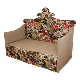 Custom Shaped Chinois Daybed With Trundle