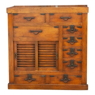 Handsome 19th Century Choba Tansu Chest For Sale