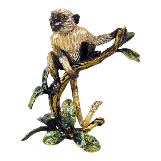 Monkey on Branch Jay Strong Water Sculpture For Sale