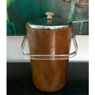 Mid Century Teak Ice Bucket by Thermos Preview