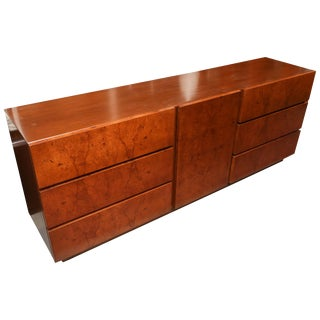 Roland Carter for Lane Olive Wood Burl Dresser or Credenza, Usa, 1970s For Sale