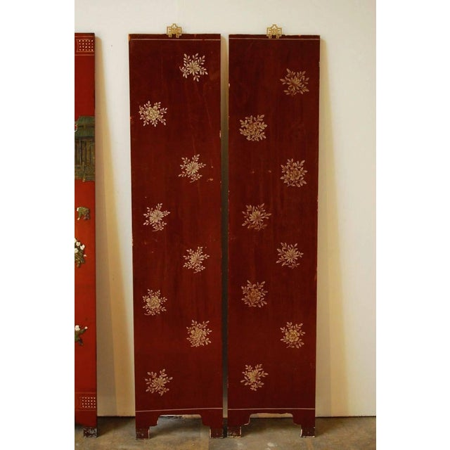 Chinese Hard-Stone & Red Lacquer Screen - Image 10 of 10