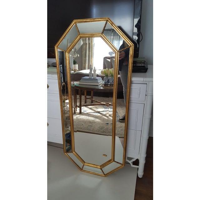 Vintage La Barge Italian Gilt Wood Octagonal Gold Beveled Mirror - Image 6 of 8