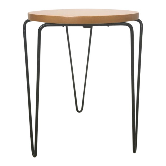 Florence Knoll Hairpin Stool or Side Table For Sale