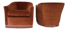 Image of Velvet Club Chairs