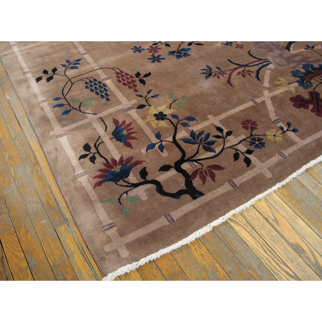 Art Deco Antique Art Deco Chinese Rug For Sale - Image 3 of 8