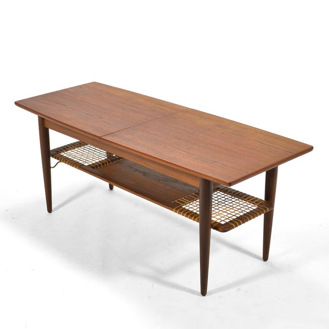 Danish Teak Extension Coffee Table For Sale - Image 12 of 13