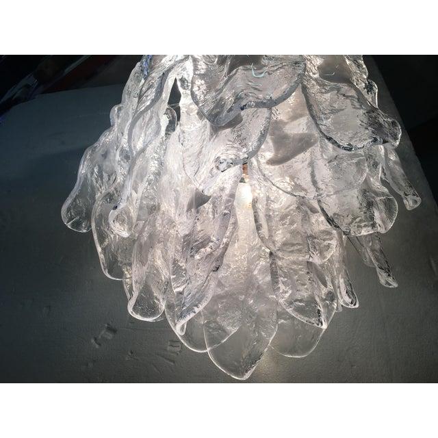 Italian White and Transparent Murano Glass Chrome Metal Frame Sputnik Chandelier For Sale In Columbus, GA - Image 6 of 12