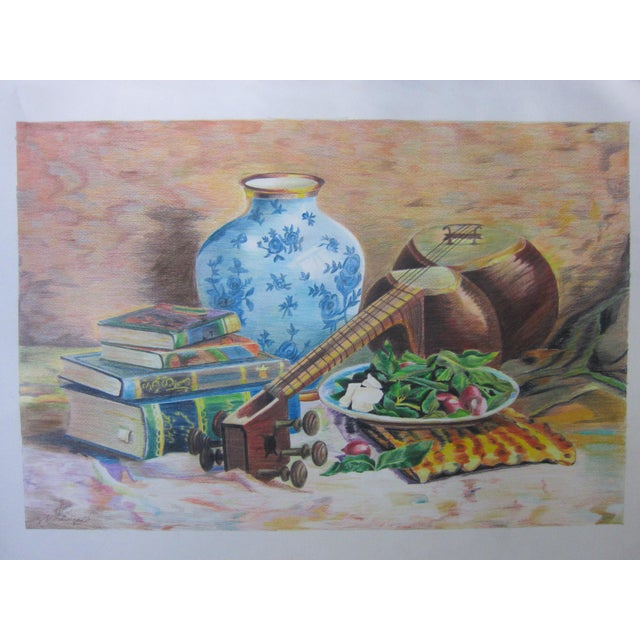 Eastern Culture Realism Colored Pencil Painting - Image 2 of 11
