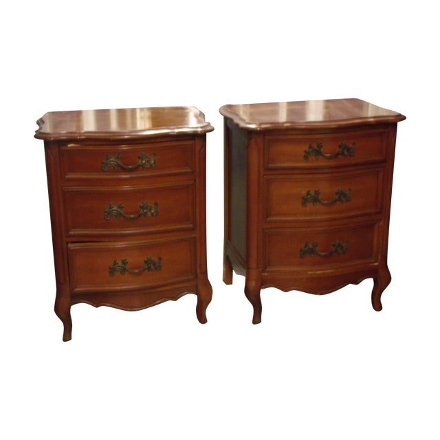 Cherry Night Stands - A Pair - Image 1 of 5