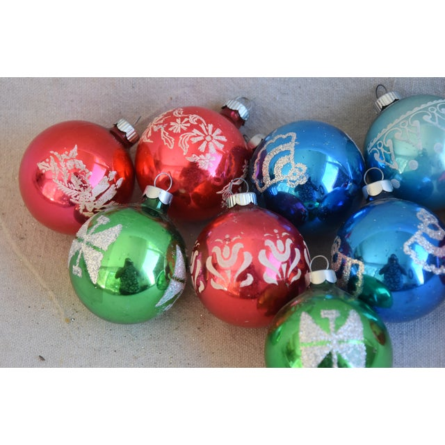 Vintage Colorful Christmas Ornaments W/Box - Set of 10 For Sale - Image 4 of 8