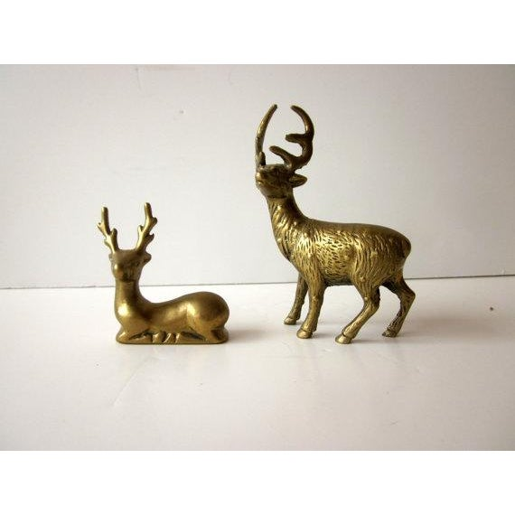 Hollywood Regency Brass Reindeer - Pair Deer - Image 4 of 6